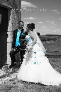 couple mariés au moulin d'archiac