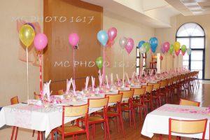 décoration salle anniversaire ballons charente maritime
