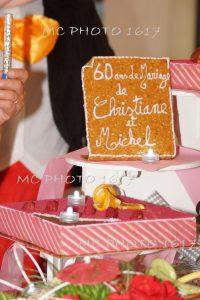 gateau pour les 60 ans mariage charente maritime
