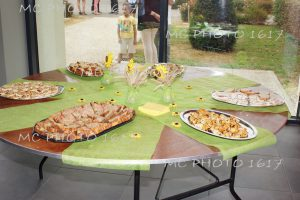 bapteme-apero-buffet-avec-nappe-verte